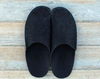 Mens Slippers for Men House Shoes handmade with original leather