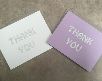Thank You Notecard and Envelope