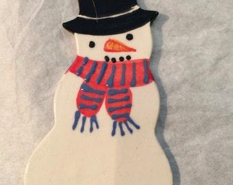 Ceramic Snowman Decoration