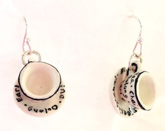 Teacup & Saucer Earrings