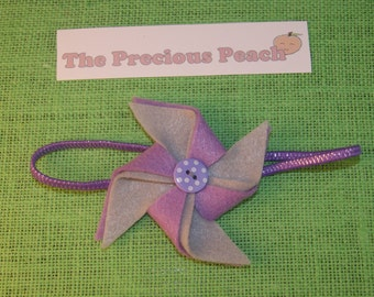 Purple Pinwheel headband