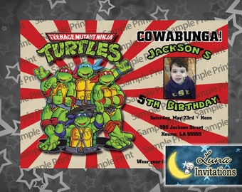 Ninja Turtles Party Invitation -diy Printable