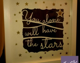 You alone will have the stars Papercut - Framed