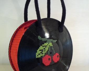 """MADE TO ORDER Vinyl Record Bag """"Cherry"""""""