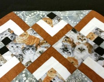 Cat Placemat Set of 4 with 2 pot holders