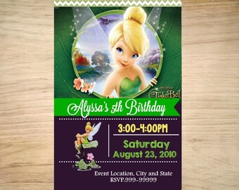 Tinkerbell Birthday Invitation - Tinkerbell Invitation - Printable Tinkerbell Invitation - Tinkerbell Invite