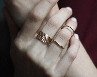Baby Babel - 14K Gold Filled Stacking Ring, Rose Gold Filled Stacking Ring