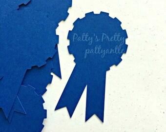 Award Ribbon Die Cuts, Award Ribbon Confetti, Prize Ribbon Die Cuts, Prize Ribbon Confetti, Blue Ribbon Die Cuts, 15 Ct.