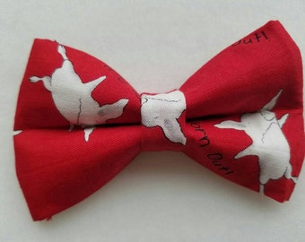 Olivia the pig inspired hair bow/ boys bow tie/ dog bow tie