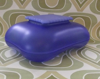 Alessi blue biscuit box, Mary biscuit box, Stefano Giovannoni design 1995
