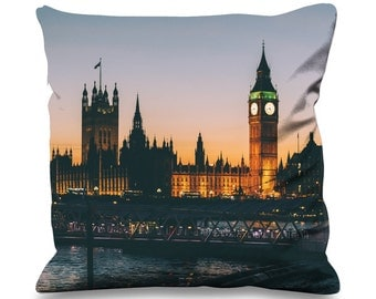 Big Ben and Houses of Parliament at Night 45cm x 45cm Sofa Cushion - London