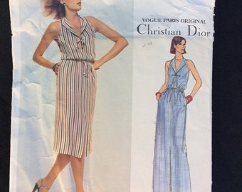 Christian Dior, Vogue Paris Original, Pattern 1648 , Vintage Pattern, Sewing Pattern, Vintage Dress, Size 14