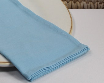 Blue fabric napkins, dinner napkins, cotton napkins, cloth table linens, hostess gift, table settings, kitchen and dining