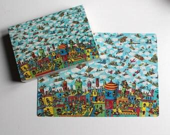 Vintage Where's Waldo The Carpet Flyers Jigsaw Puzzle 1991