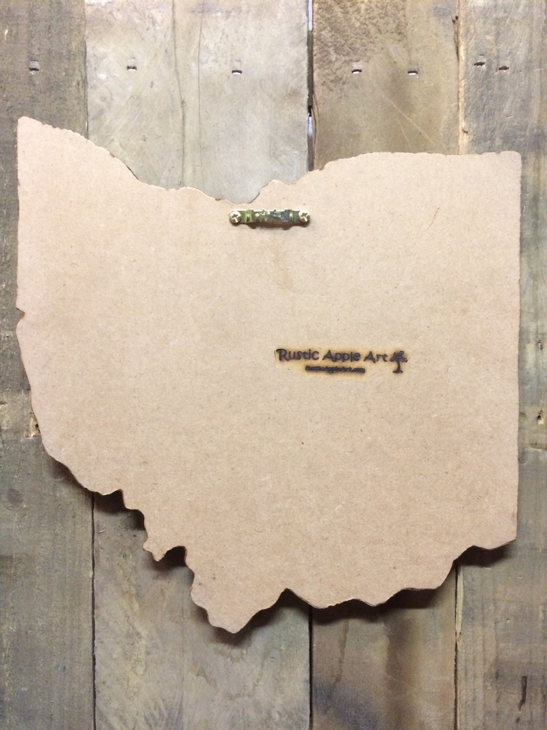 Buckeye License Plate Sign Wall Art Ohio License Plate Map Rustic - Us map paper plates