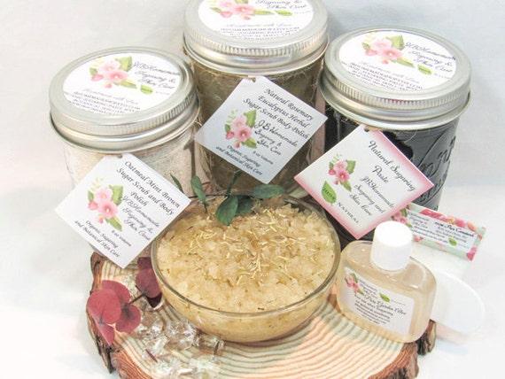 Sugaring Paste & Natural Rosemary Eucalyptus Sugar Scrub Deluxe Bundle