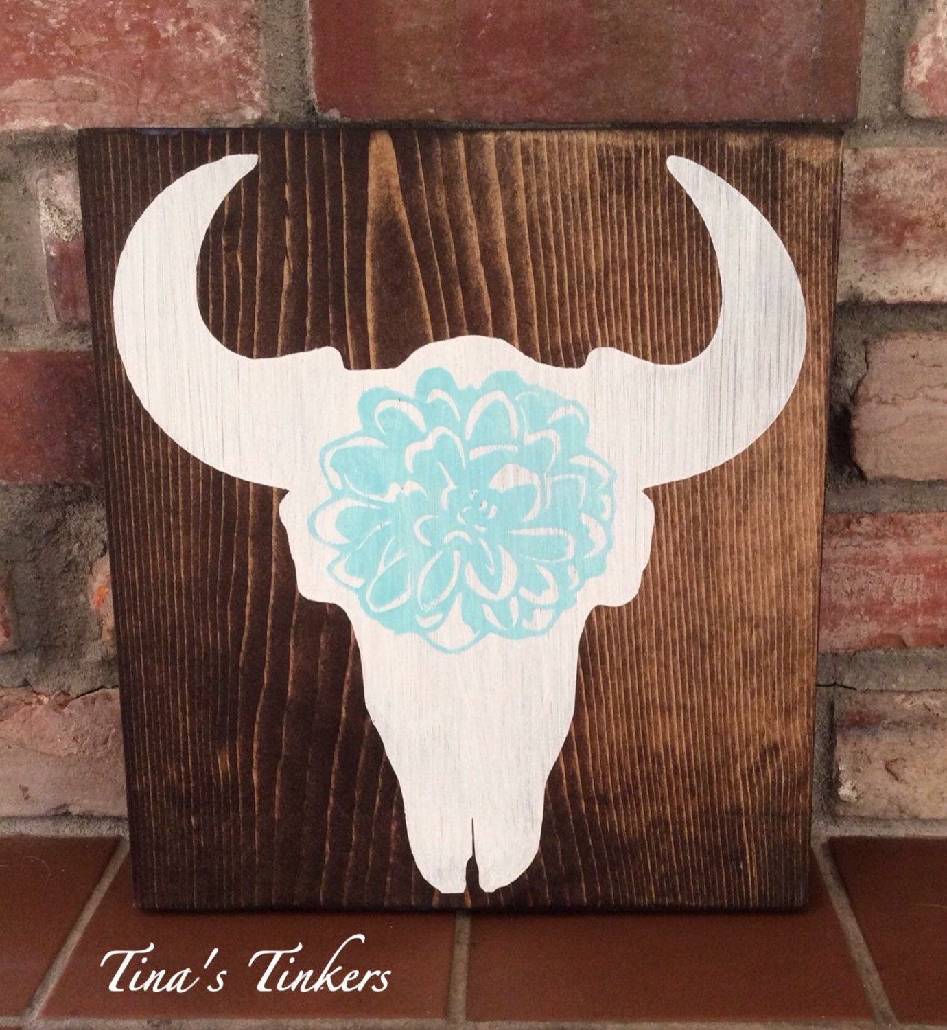 cowgirl country girl room decor steer skull with flower