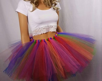 Adult or Child Festive Rainbow Tutu