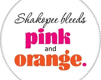 Shakopee Bleeds Pink and Orange Custom Chapter Shirts