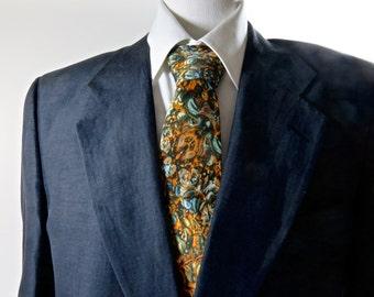 """Math Necktie Silk, 3D Fractal design, Mathematical design, """"Fractal Cascade,"""" gifts for men"""