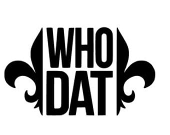 Who Dat Decal, New Orleans Saints Decal