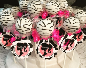 Barbie inspired Zebra themed Cake Pops