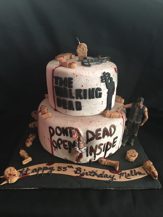 decoration gateau walking dead