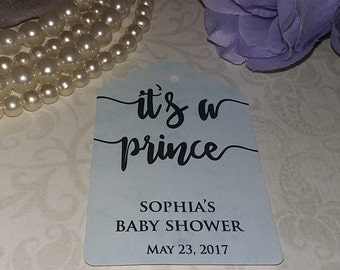 Its a Prince/princess Tags - Baby Shower Favor Tags - Gift Tags -  Personalized Tag - Gift - Favor Tag - Set of 25 to 300 pieces