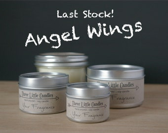Angel WIngs Soy Candle - 2oz, 4oz or 8oz Tins or Mason Jar 170g