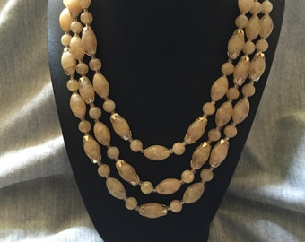 Triple strand Japanese Beaded necklace