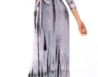 Alexandria TieDyed Wrap Maxi Dress