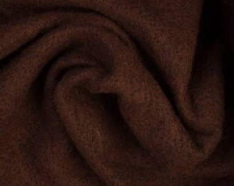 Extra-fine Merino wool pre-felt, 19 microns, Chocolate, 110 x 50 cm (43 x 19.5 inches)
