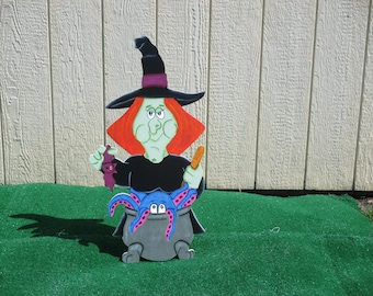 Halloween Witch Cooking Yard Sign