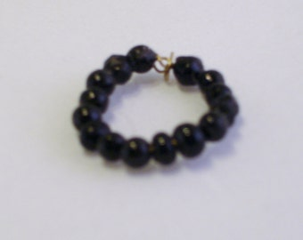Mini Black Bead Necklace - large beads