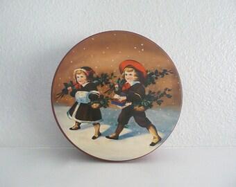 Vintage Christmas Cookie Tin
