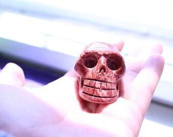 Red Spiral Jasper Skull,Regebogen Jaspis Schädel,Unusual,Protection,Healing,calmness,45mm1,5inch,True Love