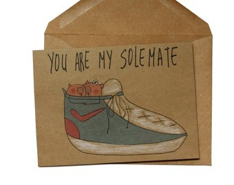 punny Valentine's Day card - Funny anniversary card for her - anniversary card him - soulmate card for her - cute birthday card girlfriend