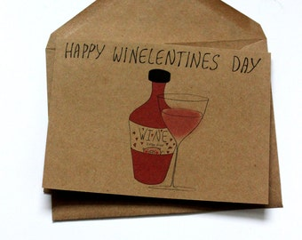funny valentines day card best friend wine valentines day card galentines day card happy valentines funny