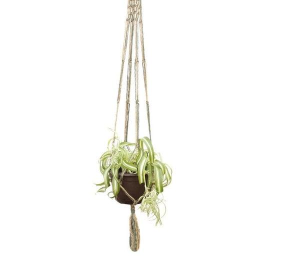 macrame pot hanger instructions