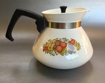 Vintage Corning ware P104B 6 Cup Coffee Pot Spice of Life corningware