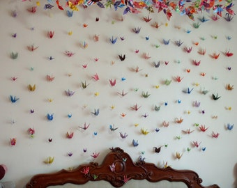 Decorative Origami Crane Strings for weddings, bedrooms, nurseries and toy rooms