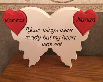 Personalised Freestanding Wings