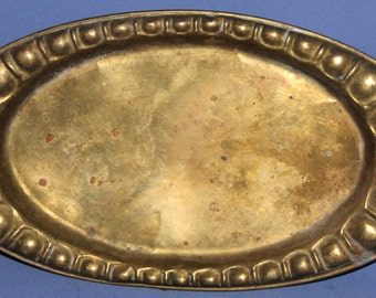 Vintage Ornate Brass Serving Tray