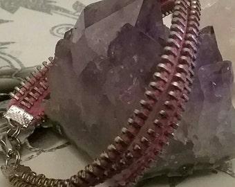 chain zipper bracelet