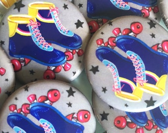Roller Skates Button