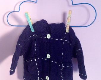 Baby Boy Hoodie Cardigan, Baby Boy Cardigan, Baby Wool Hoodie, Baby Boy Sweater, Baby Knit Clothing, Knitted Boy Jacket, Toddler Hoodie