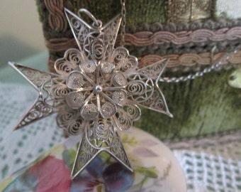 Silver Maltese Cross Pendant & Chain