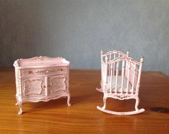 Dollhouse 1:12 nurery set bespaq 2 pieces
