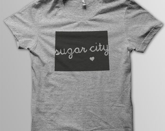 Custom COLORADO Hometown American Apparel Tri blend Tshirt