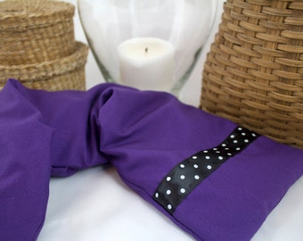 Lavender Flax Seed Neck Wrap with Cover